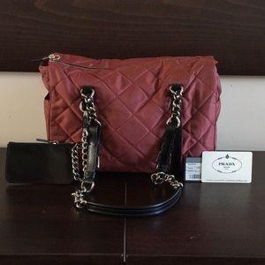Authentic brand new brick-red Prada shoulder bag